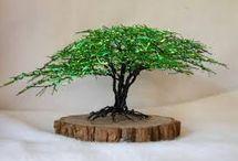 Kum boncuktan minik ağaç (bonzai)yapımı