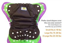 Newborn Cloth Diapers / Mini versions make cloth diapering easy from birth until other versions fit properly.