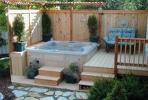 spa and deck ideas