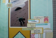 Scrapbook Pages using Perfect Layers, Perfect Tears, and Perfect Squares