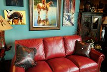 rote couch