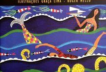 Literatura infantil / Livro para crianças com temáticas de monstros, folclore e medos.