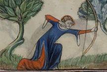 archery in manuscripts