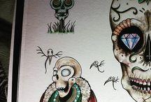 Jordan's Art / ART: Tattoo Flash, Watercolor, Oil Painting, Carvings