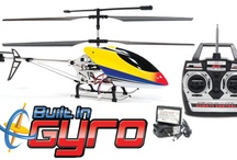 RC Helicopters / We are home to the hottest and newest radio control helicopters on the internet. HobbyTron boasts a strong lineup that can be found here: www.hobbytron.com/RCHelicopters.html. We carry gas and electric helicopters ranging in size from a micro 4 inches to a giant 47+ inches. We also sport the largest collection of Gyro RC Helicopters out there.  Make sure to check out our new Quadcopters board!