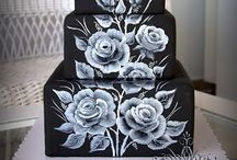one stroke cake painting