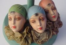 """Vintage Hat Stands & Head Vases / The old timey """"look"""" of the  1890's thru the 1940's for the hat stands, the head vases and the mannequin heads.   / by Janice Roth"""