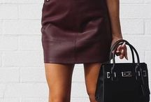 black skin skirt outfit