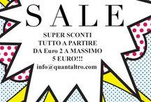 •Summer sale• / tutto scontatissimo agosto 2014 da € 2 a 5 € info@quntaltro.com