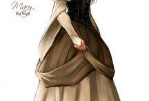 Medieval Ladies / Women in Medieval costumes