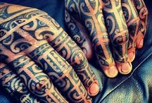 Tatouages polynesiens main