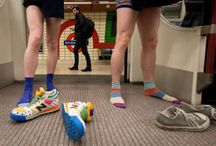 "No Pants Subway Ride  / Since 2002 people throughout the world have been participating in this January ""No Pants Subway Ride."" Not for everyone but certainly a  (cold)  blast for many!"
