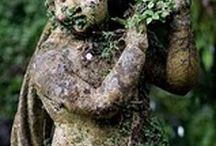 Decorated Gardens / I love garden decorations.....the unexpected little something that makes your garden special~
