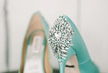 Shoes in teal / mint