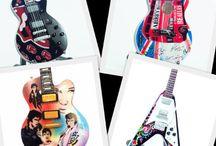 Mini guitars / Wholesale of collectibles miniature guitars 1:4 scale replica