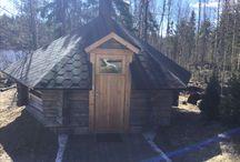 Cottage's fireplace