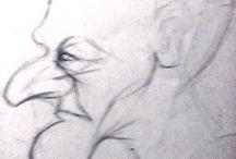 Csepregi György / early drawings