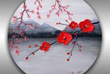 Round canvas ideas wall art/ O obrazach można na okrągło/ / Dobra sztuka kołem się toczy :)