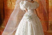 Barbie mannequin mariée-bride / tenue de mariage pour poupées mannequins
