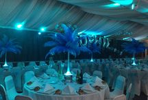 Feathered centrepieces / Ostrich feathers create a wow factor!