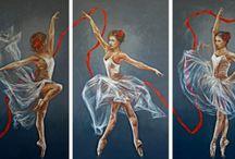 Ballerina / Elisa Brindani's paintings