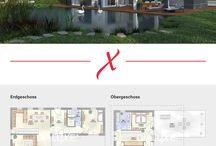 Grundriss Ideen / Sie suchen nach einem Grundriss für Ihr zukünftiges Zuhause oder brauchen Inspiration für die Planung Ihres Hauses? Stöbern Sie durch unsere Grundrissideen. Wir wünschen viel Spaß!