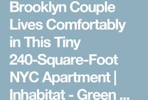 Brooklyn Couple Lives Comfortably in This Tiny 240 Square Foot NYC Apartment