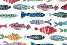 Sea creatures : : illustration