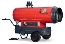 Generatori a gasolio indiretti / Riscaldatori a gasolio a combustione indiretta. Post-ventilazione per raffreddamento camera di combustione. Adatti per riscaldare ambienti chiusi.