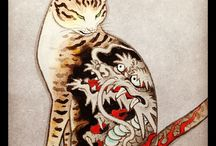 ink tattoo / japanese chinese ink drawings