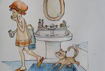 Mis dibujos de ilustración /  fotos de distintos dibujos, personajes  realizados para ilustrar cuentos, libros infantiles, posters....