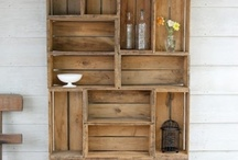 Wooden crates and pallets / These humbly constructed  wooden boxes can be reused and reconfigured in amazing ways!  Check here for inspiration, then grab the supplies you need from ReHouse, in Rochester, NY  www.rehouseny.com