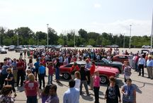 American Modern Summer Classic Car Show / American Modern Insurance Group revealed The Build's own Ami G. at the Summer Classic Car Show, where employees enjoyed other classics and great games and prizes