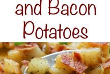 crispy cheese and bacon potatoes dish