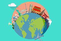 Travel Animation promos in Flat design