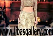 Asian Designer Gowns Evening Bridal Gowns for Wedding and Reception / The http://www.libasgallery.com Asian Designer Gowns Evening Bridal Gowns for Wedding and Reception Pakistani Wedding Dresses Bridal Wear Anarkali Suits Bridal Lehenga Designer Sharara Party Wear Clothes Gharara Collection is a modern system of dressing created to appeal to women's senses on every level.exclusive collection embodies the ultimate in luxury, sensuality,quality fabrics,workmanship and ravishing embellishments innovation.A complete range of Wedding Dresses, accessories products.