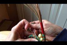 Pine needle weaving