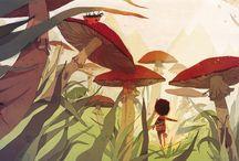 Children's art and illustration