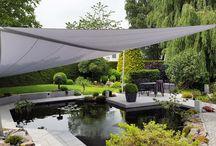 Schönes & Praktisches für Terrasse, Garten  und Balkon / Sonnenschutz,Sonnensegel,Markisen,Terrassendächer verschönern die Terrasse, den Balkon und den Garten. Dekorationen werten die so gestalteten Outdoor Bereiche auf. Eine Moonlight Lampe unter einem Sonnensegel, das hat was.