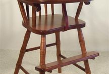 Solid Wood High Chairs / Treat the little loved-one in your life to the exceptional craftsmanship of an American-made high chair. Best of all? You'll be able to pass it down for generations, allowing your children's children to be a part of your #heirloom quality story :)