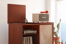 Record Player Storage