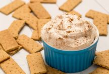 pumpkin dip and cinnamon roll cheesecake dip