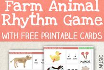 Farm Animals Unit Study / Teach your kids about the animals found at a farm using math, science, crafts, handwriting, snacks, books, music and more!