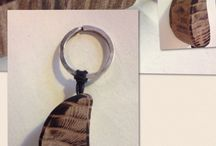Wooden keyrings!!