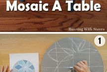 how to mosaic a table