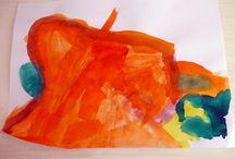 Painted by Ármin (3.5-4 yrs) / Ármin festményei (3,5-4 éves) 2013 / by Miklos Barath