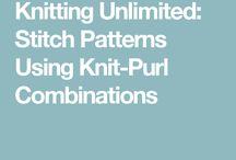 Knit purl patterns