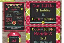 Cute As a Button First Birthday Ideas / Ideas for your Child's First Birthday Party!