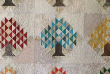 Quilts using pre-printed interfacing