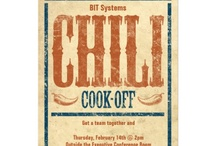 Chili Cookoff Posters / Fabulous posters promoting chili cookoffs from all over the country. Great chili and chile pepper artwork. Great slogans
